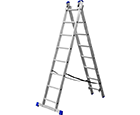 Two-section step-ladder
