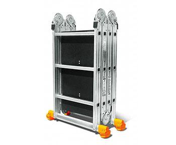Лестница-трансформер, алюминиевая четырёхсекционная шарнирная лестница, купить лестницу-трансформер Челябинск, лестница-трансформер трёх-ступенчатая, лестница-трансформер четырёх-ступенчатая, лестница-трансформер двух-ступенчатая