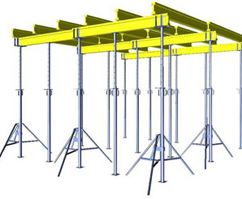ceiling formwork on telescopic racks