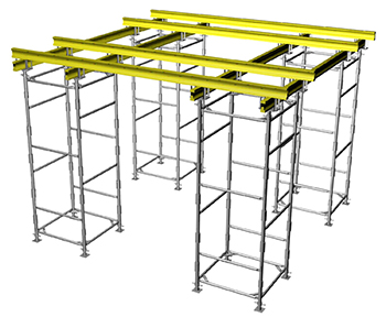 formwork floors on volumetric racks