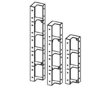 Shield angular small-panel formwork