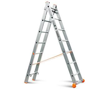Лестница-стремянка двухсекционная алюминиевая Алюмет в Челябинске